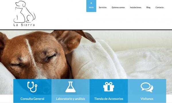 Desarrollo web centro veterinario La Sierra